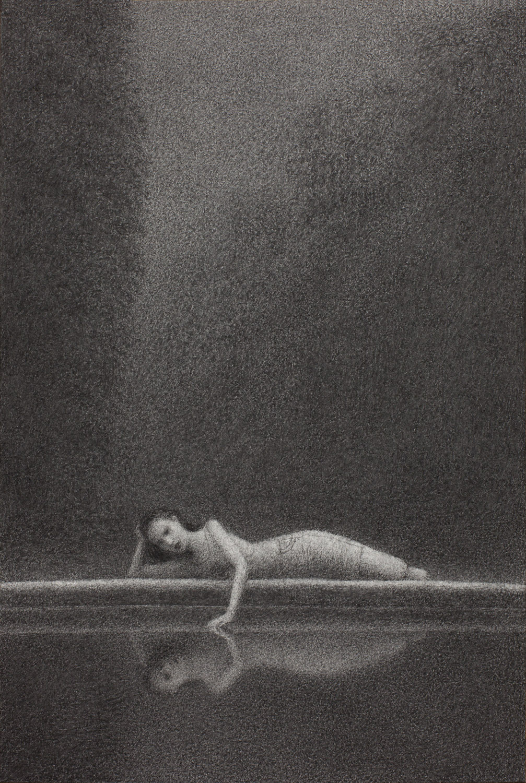 Vigil 6 , charcoal on paper, 15 x 10 in / 38 x 25 cm, 2013
