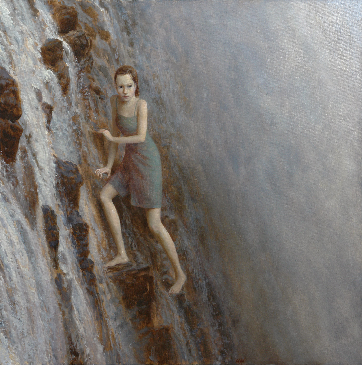 The Falls , oil on canvas, 24 x 24 in, 2005