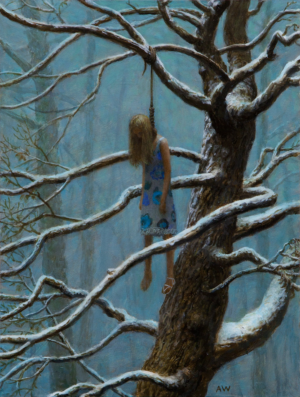Sea Of Trees , oil on wood, 16 x 12 in, 2011