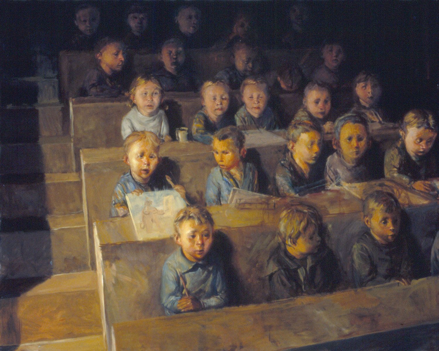 Kids , oil on canvas, 48 x 60 in, 2000