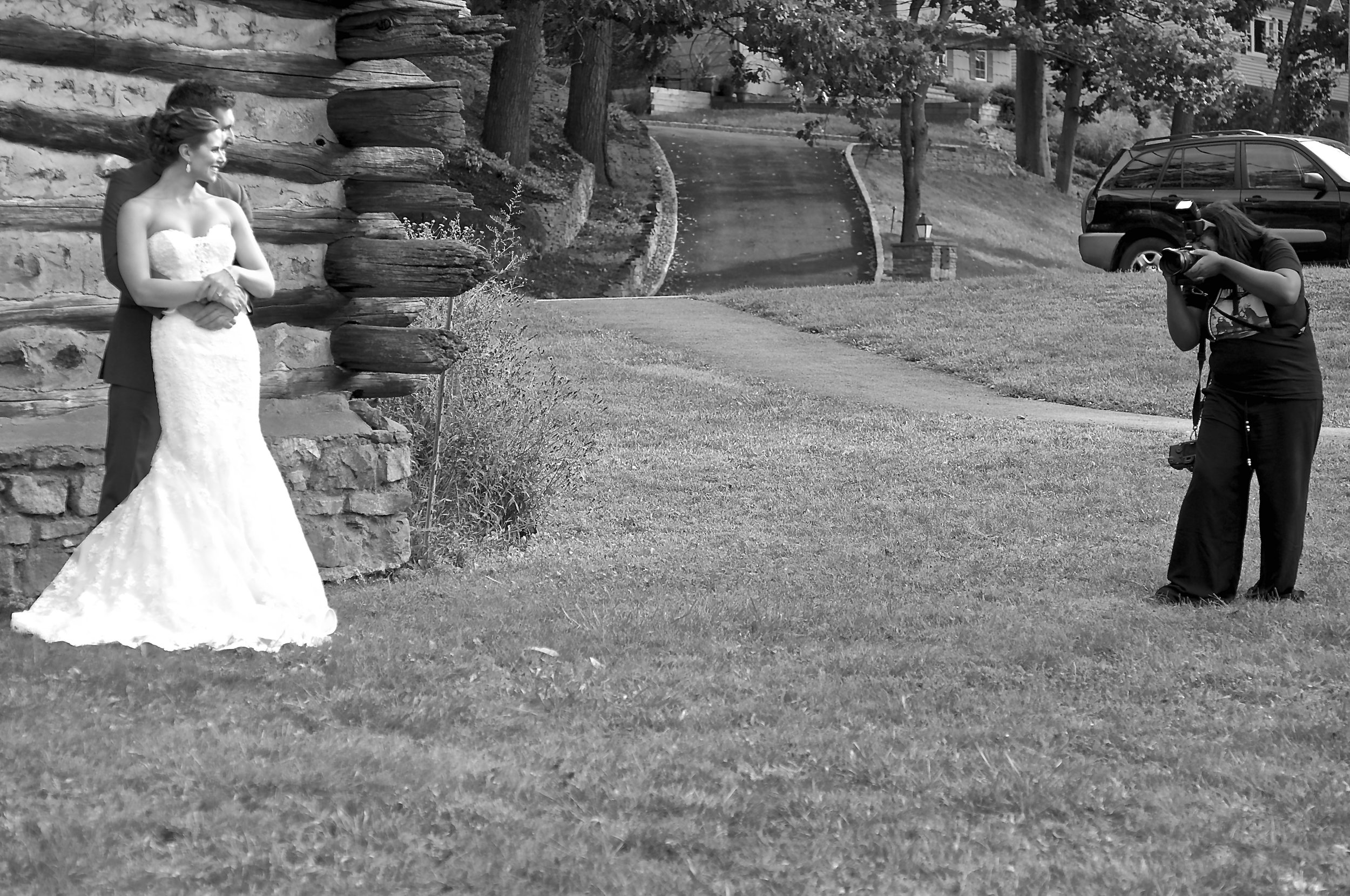 The Aisle Photography Head Photographer and Owner Dee Rosser photographing Mr & Mrs Kyle & Tyler Olsen on their gorgeous wedding day on September 25th, 2015 in beautiful Burnham Park, Morristown, NJ. Congratulations to this wonderful couple who just recently celebrated their 1 year anniversary!