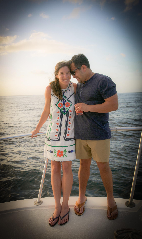 Newly Weds Sunset Cruise Ti Kaye Photography Courtesy of The Aisle Photography