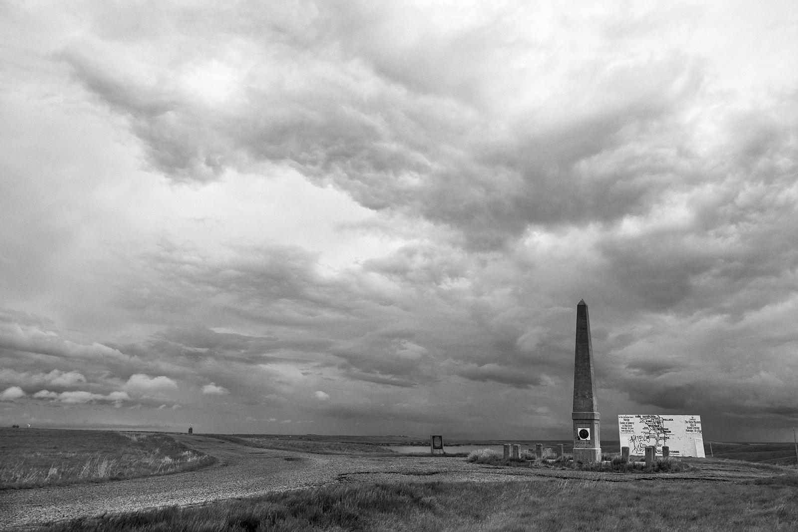 Sakakawea Monument and Sitting Bull grave site near Mobridge, South Dakota