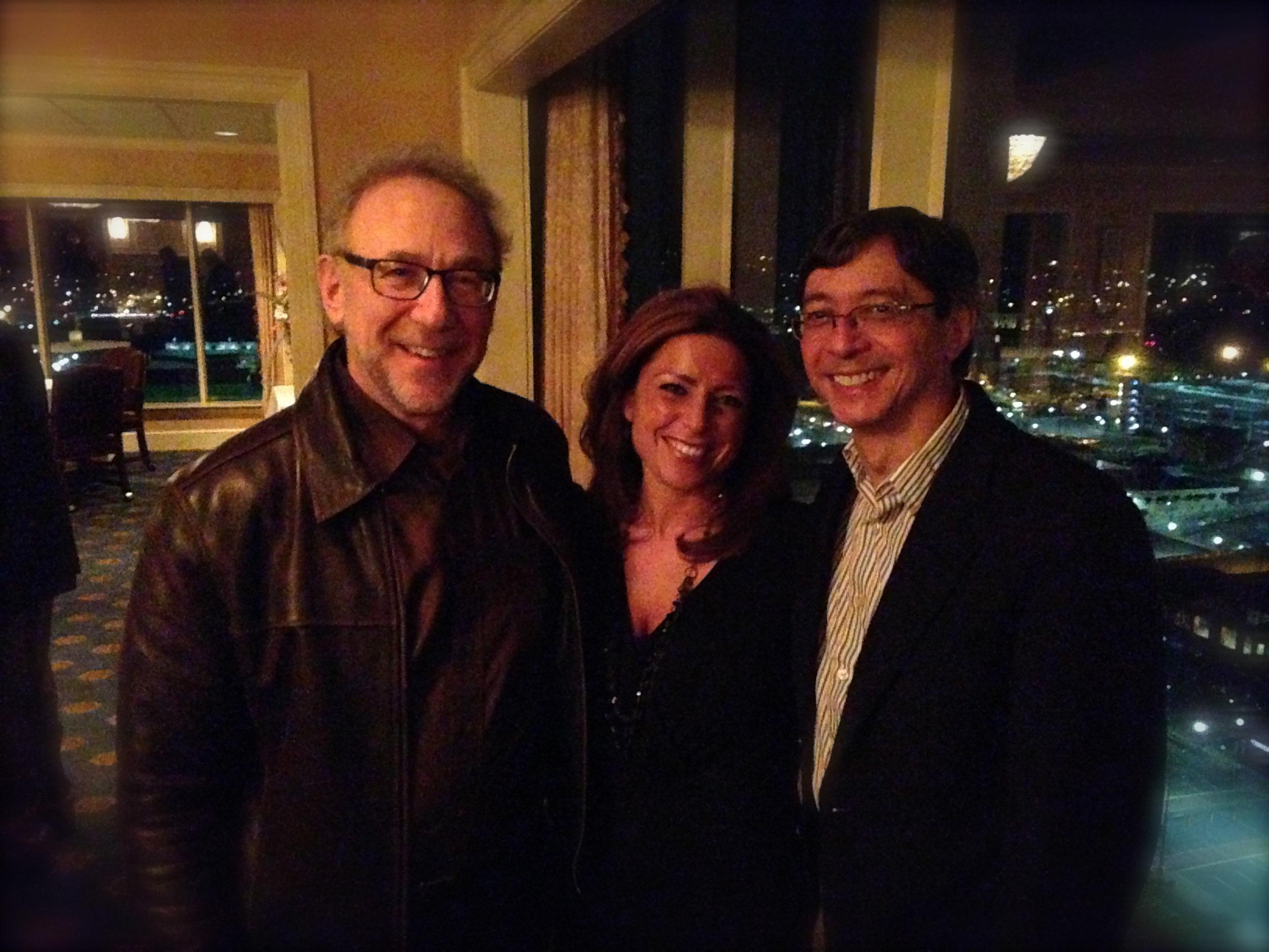 Mentor, teacher, and friend Bob Bernhardt and Peter Bay