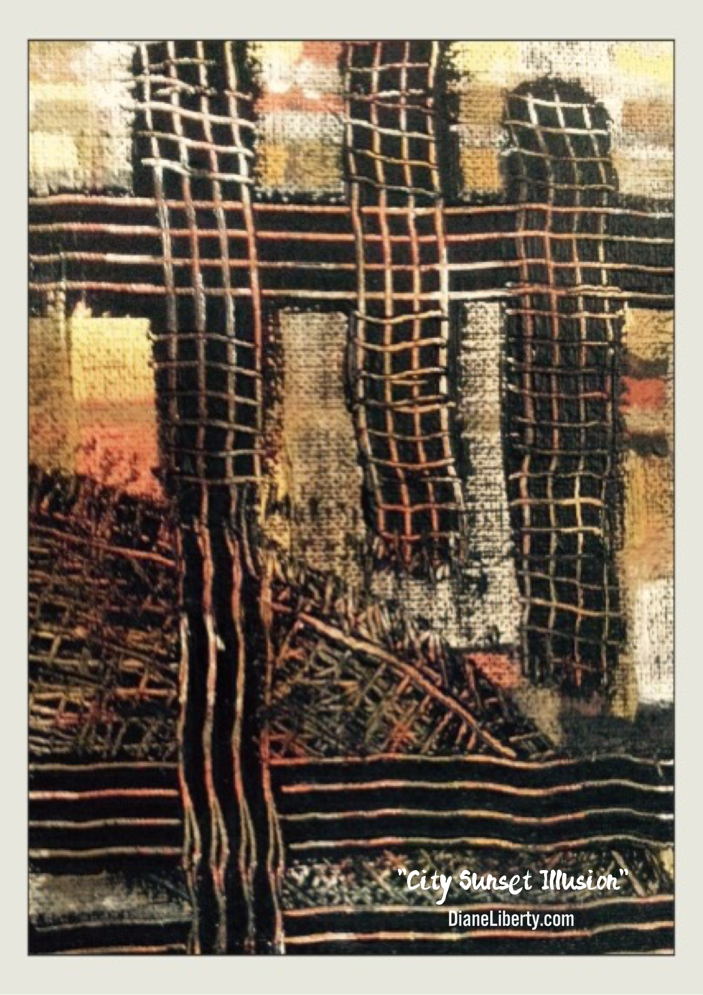 City Sunset Illusion by Diane Liberty