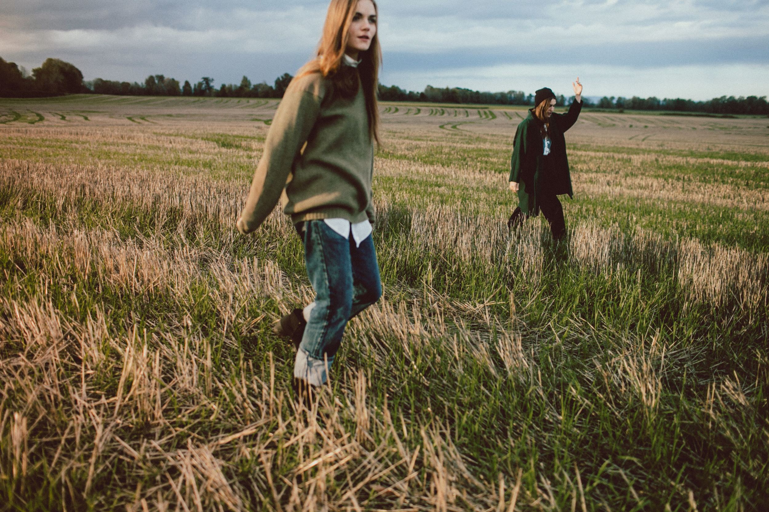 autumnal talking in the field.JPG