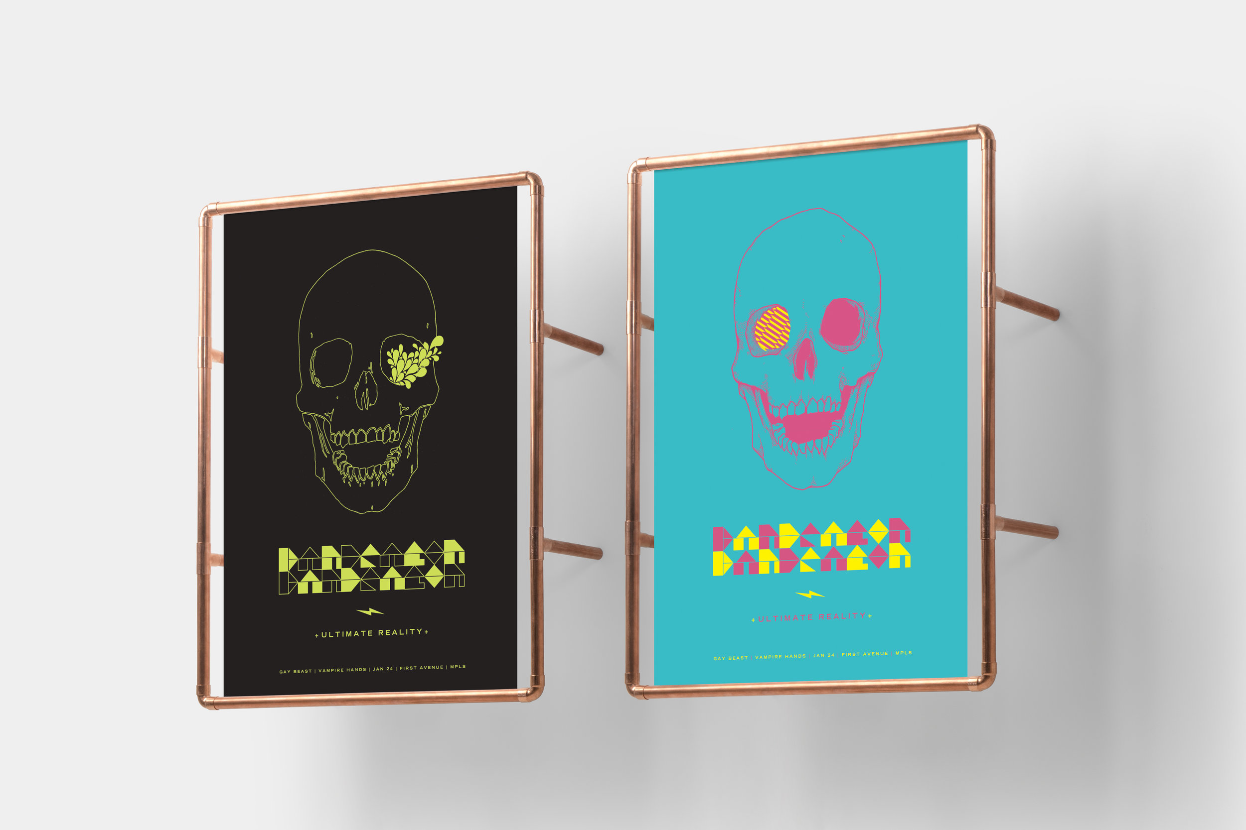 Dan Deacon glow-in-the-dark poster  Created with Flora Fauna