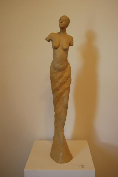 "Bettina's Last Stand  Open Edition   Cast Lightweight Aggregate   26"" x 4"" x 8""   $995"