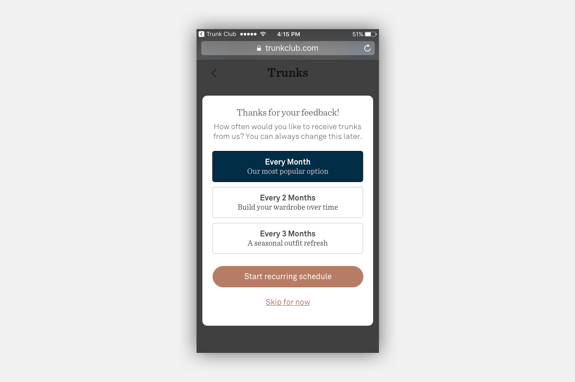 Updated Scheduling Modal