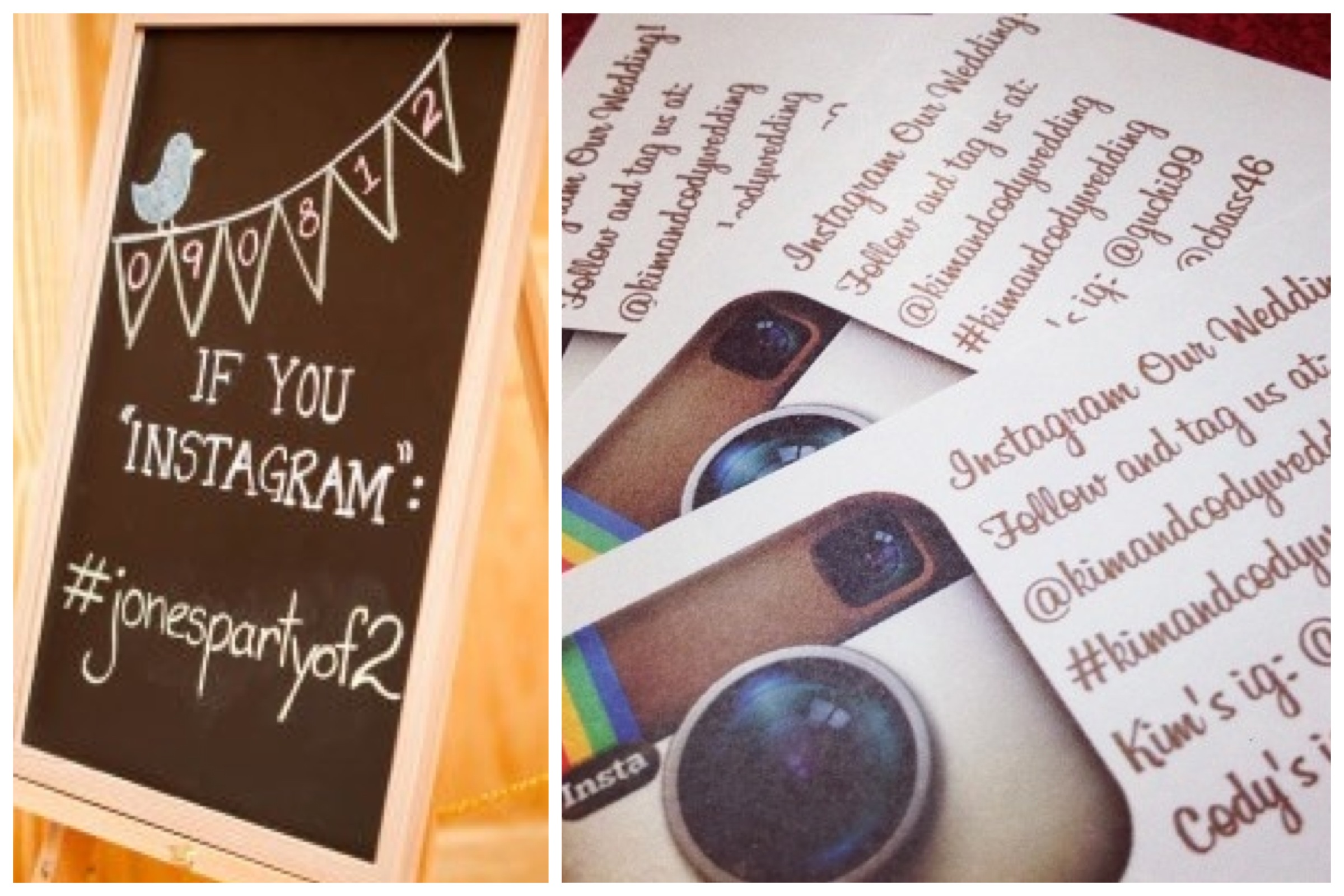 Use something like a blackboard and utlise cards to assist with reminding your guests