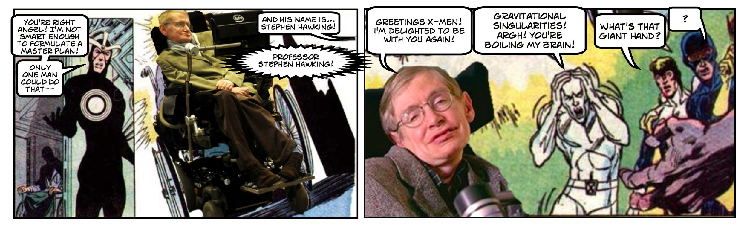 PROFESSOR X VS. PROFESSOR STEPHEN HAWKING