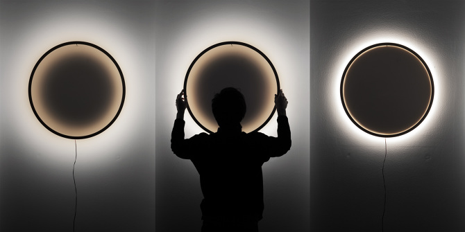 Light and shadow in a perfect circle -