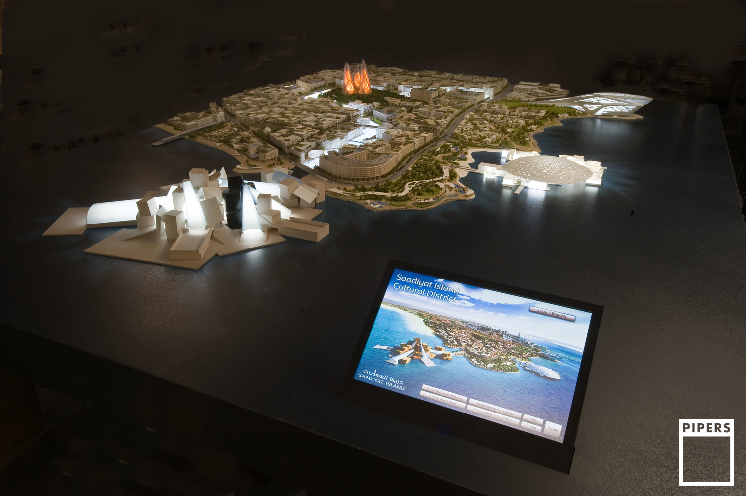 SAADIYAT CULTURAL DISTRICT. ABU DHABI - TDIC - INTERACTIVE MODEL