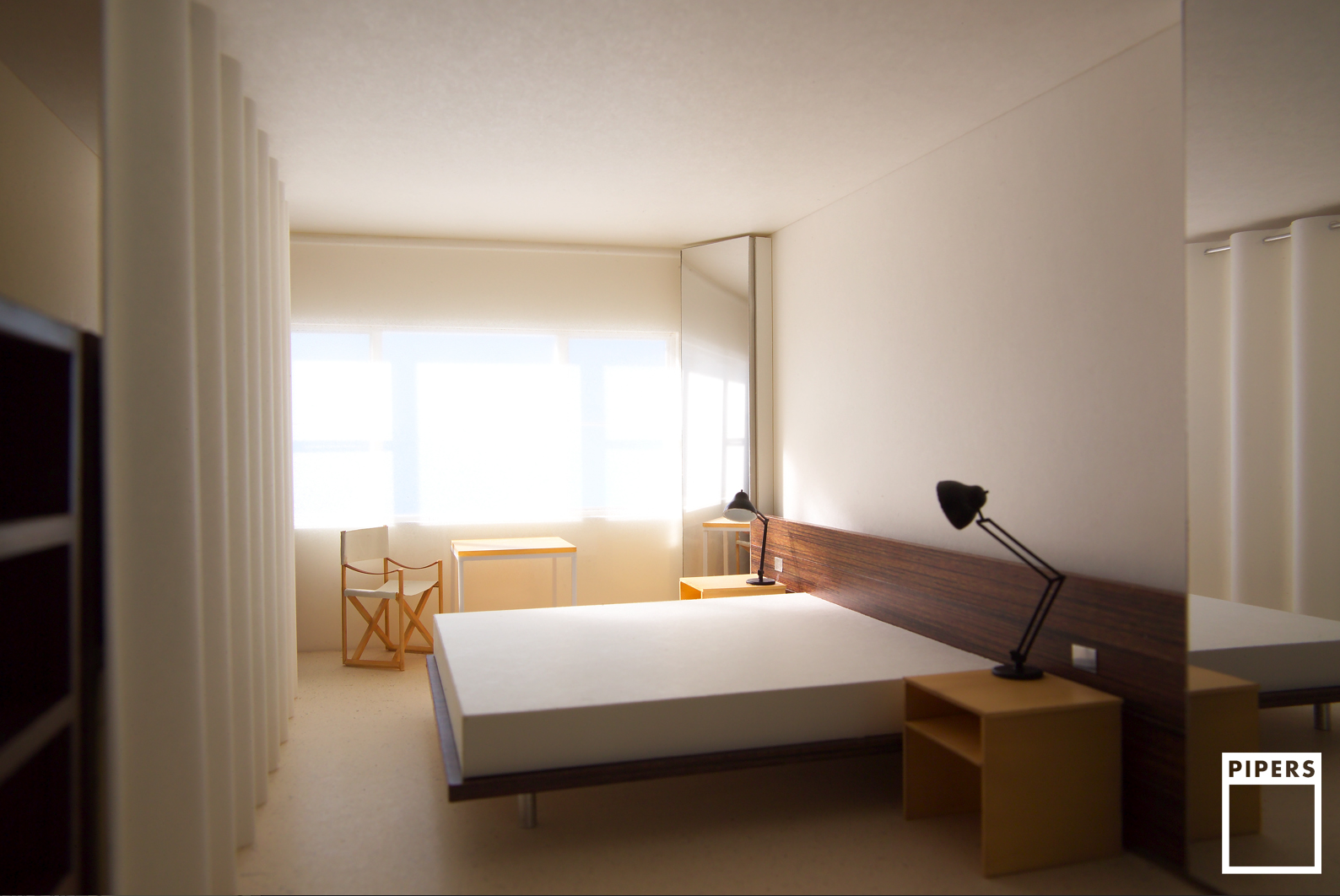 HOTEL ROOM - JOHN PAWSON ARCHITECTS - 1:25 SCALE