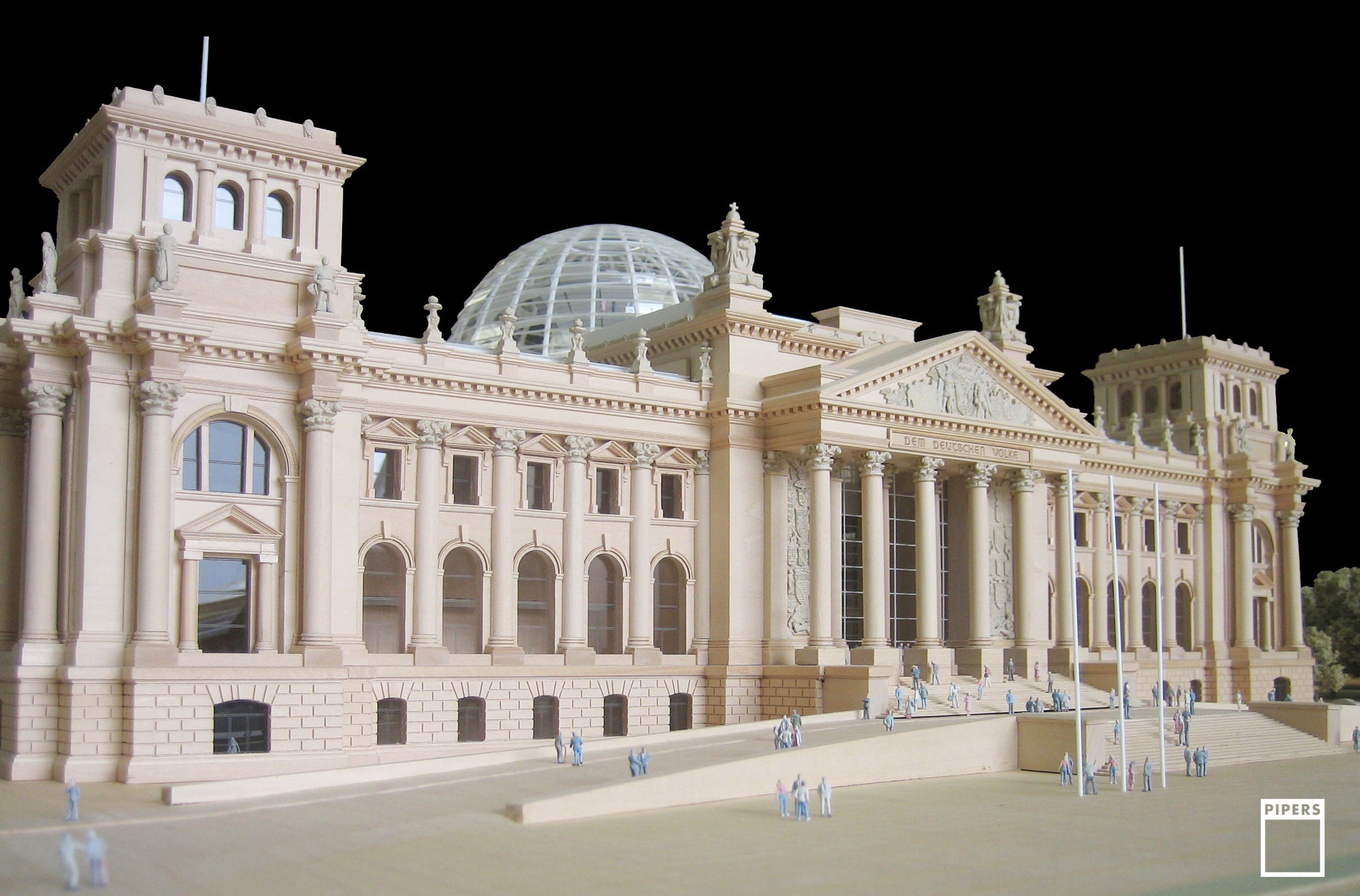 REICHSTAG BUILDING, BERLIN - FOSTER & PARTNERS - 1:200 SCALE