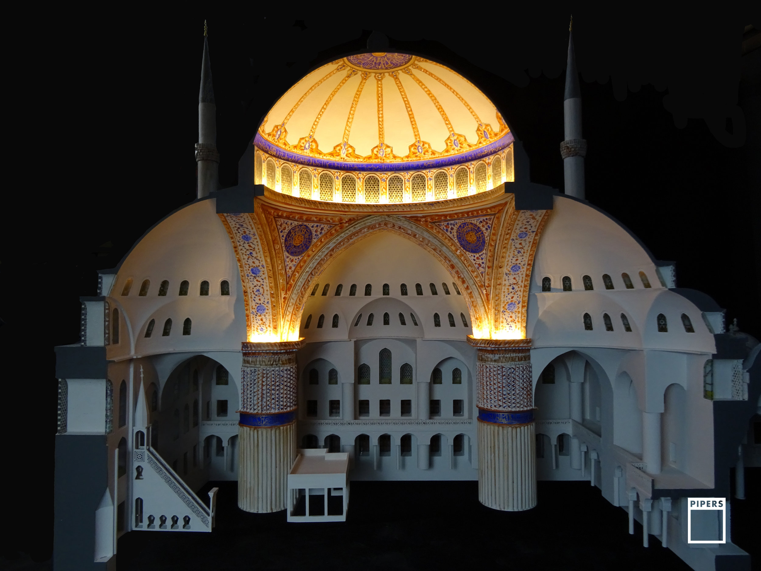 blue mosque architectural model