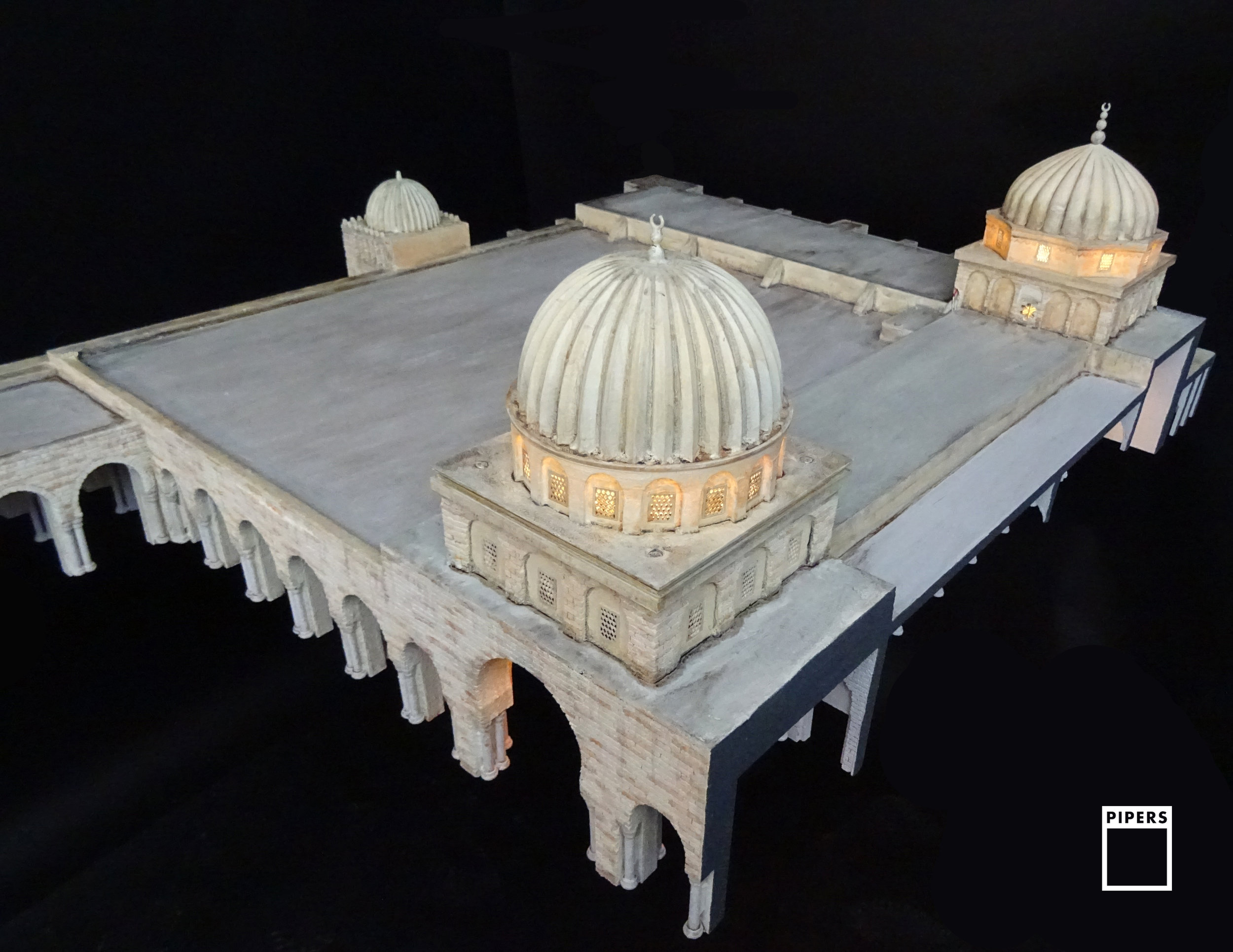 GREAT MOSQUE OF KAIROUAN, TUNISIA. 1:50 SCALE SECTION MODEL