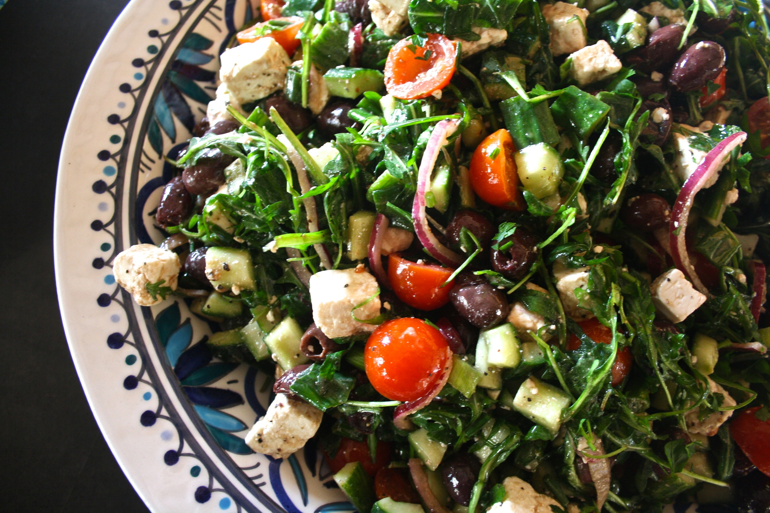 Large salad selection