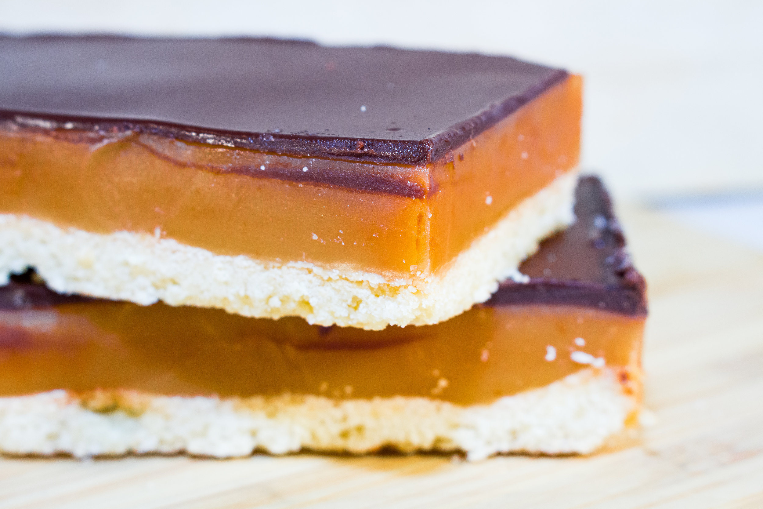 CARAMEL BAR² ⁴ ⁷ - A CRUNCHY SHORTBREAD BASE TOPPED WITH OUR DELICIOUS SALTED CARAMEL AND A LAYER OF MILK CHOCOLATE