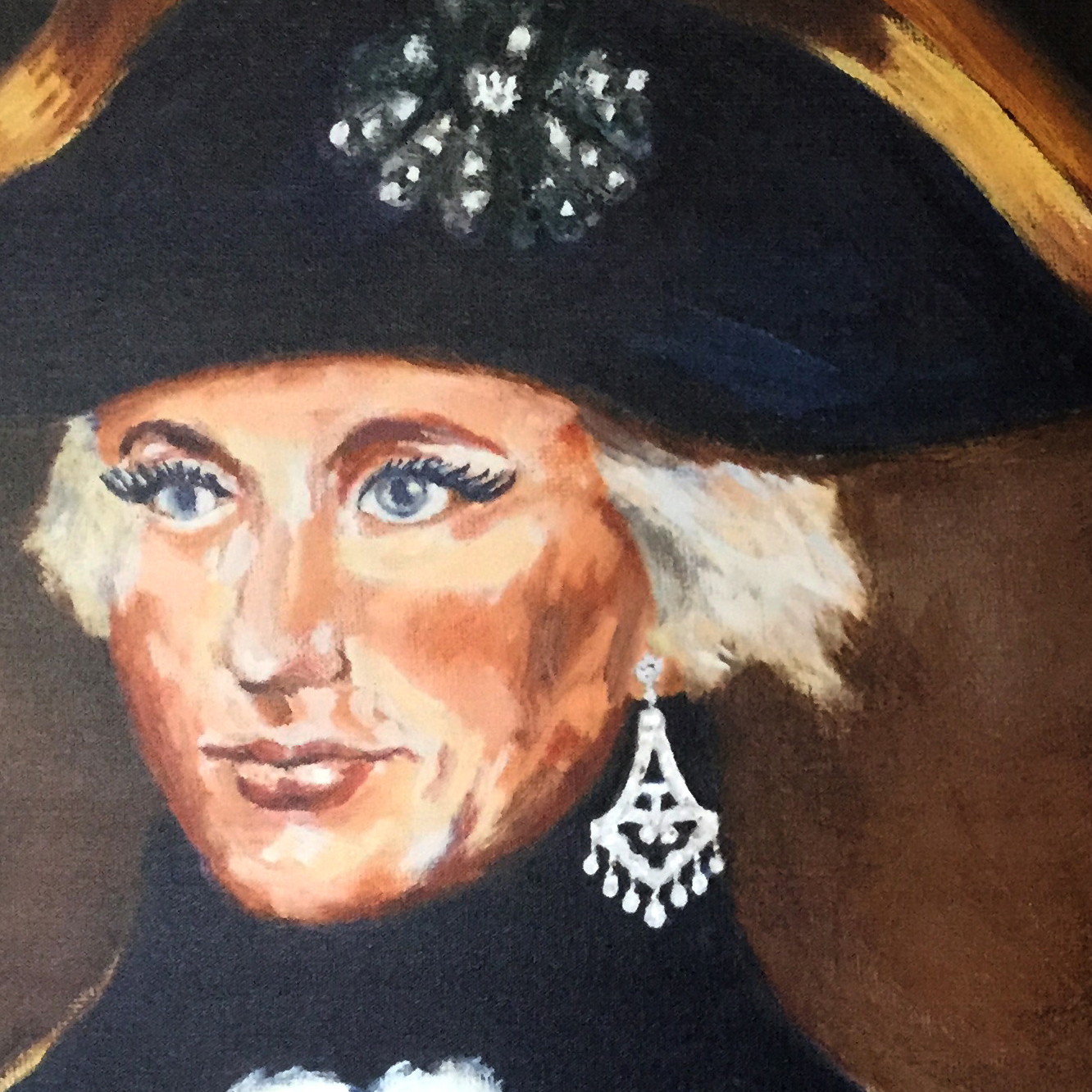 close up of captain painting