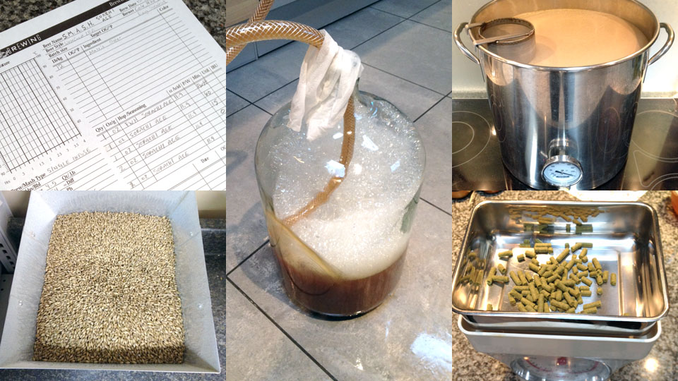 Some process photos from our first 2014 beer recipe!