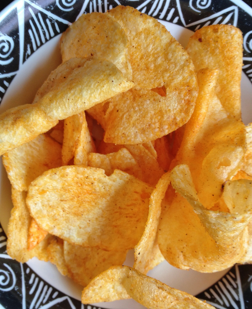 Sriracha chips, our reluctant winner. That's not saying much.
