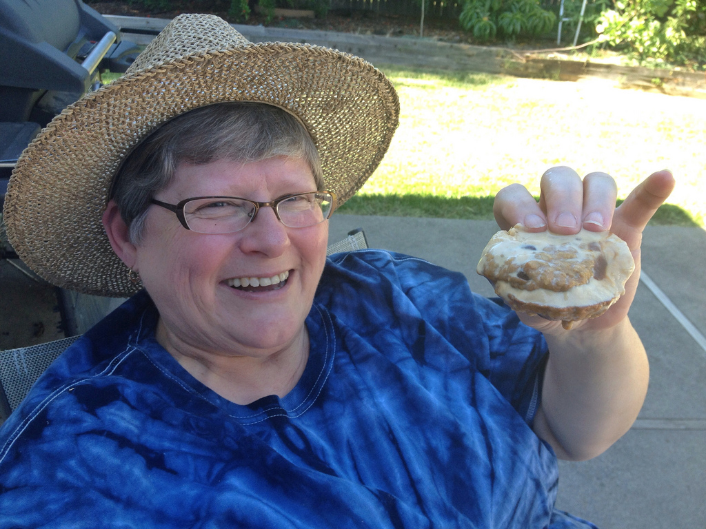 My mom loved the ice cream sandwiches -- happy birthday everyone!