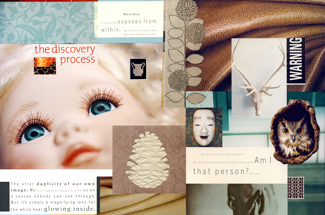 "The Discovery Process  17"" X 11"" - Mixed Media Collage"