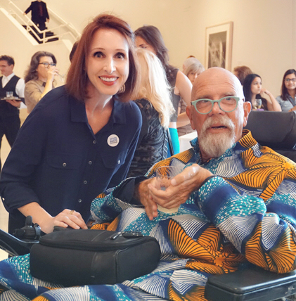 Linda with Chuck Close at the opening of  Chuck Close Photographs , NSU Art Museum, Fort Lauderdale, 2016