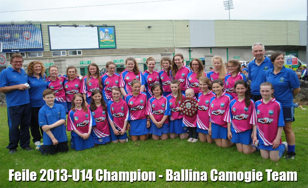 Feile 2013-U14 Champion - Ballina Camogie Team.jpg