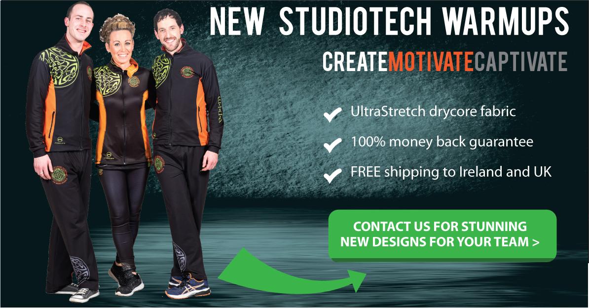 studiotech warmups gymnastics custom team tracksuits