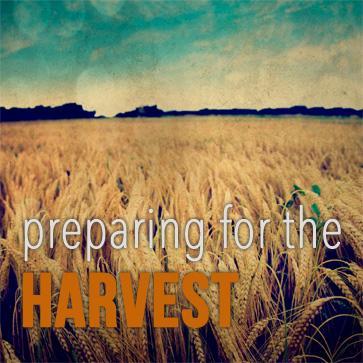 PREPARING FOR THE HARVEST  Sept. 8