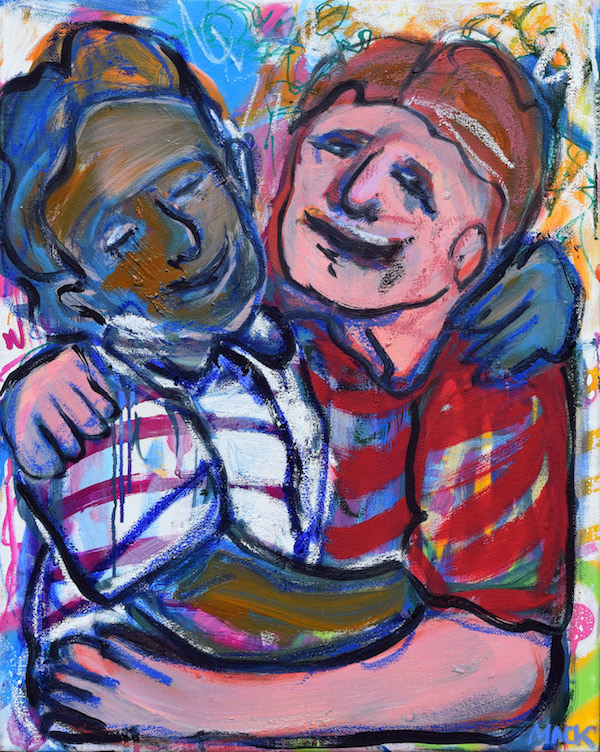 Best Buds, 2017 ($300) Oil on canvas, 16 x 20 inches.  For information...
