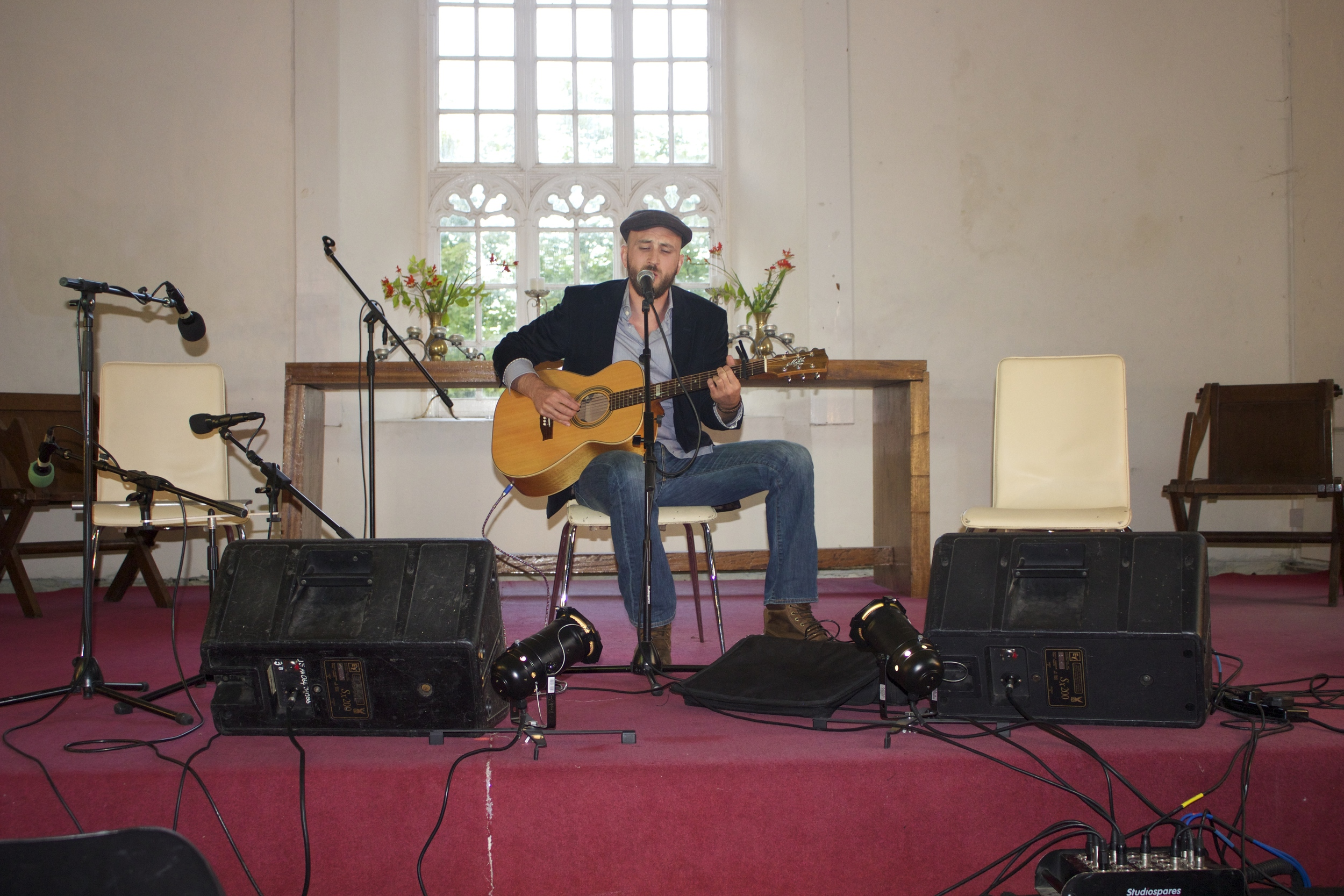 Richie Ros performing live at the Folk Concert in St James Church Dingle Co.Kerry