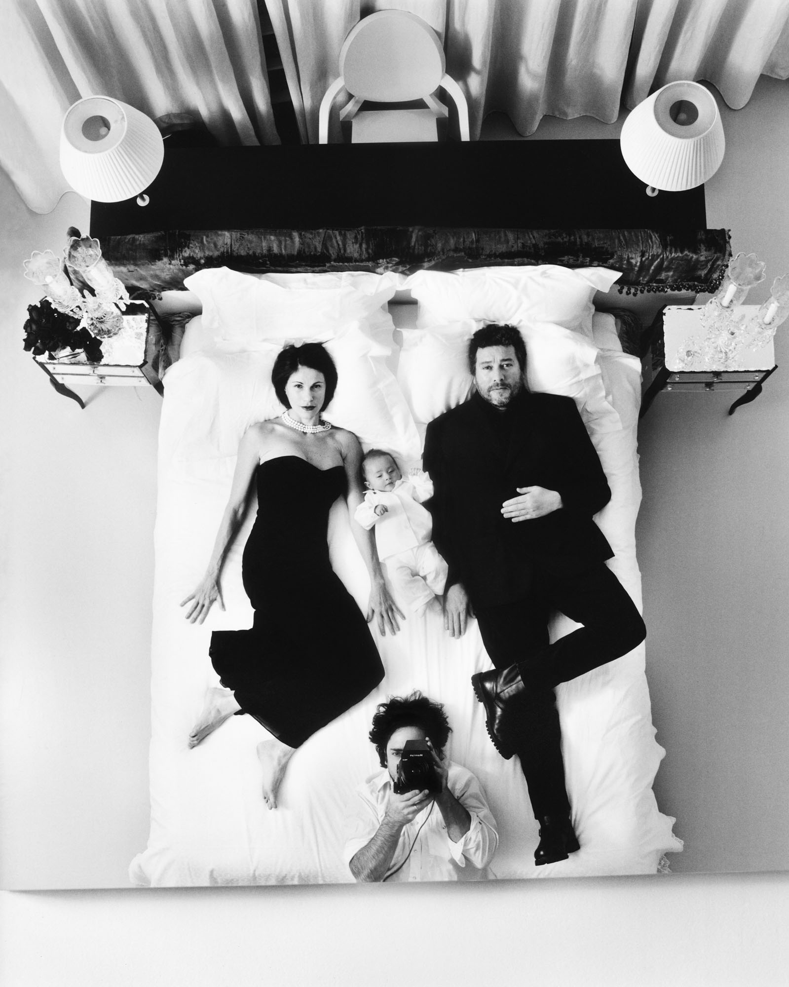 Philippe Starck with wife Nori and baby Oa (and myself) - Paris