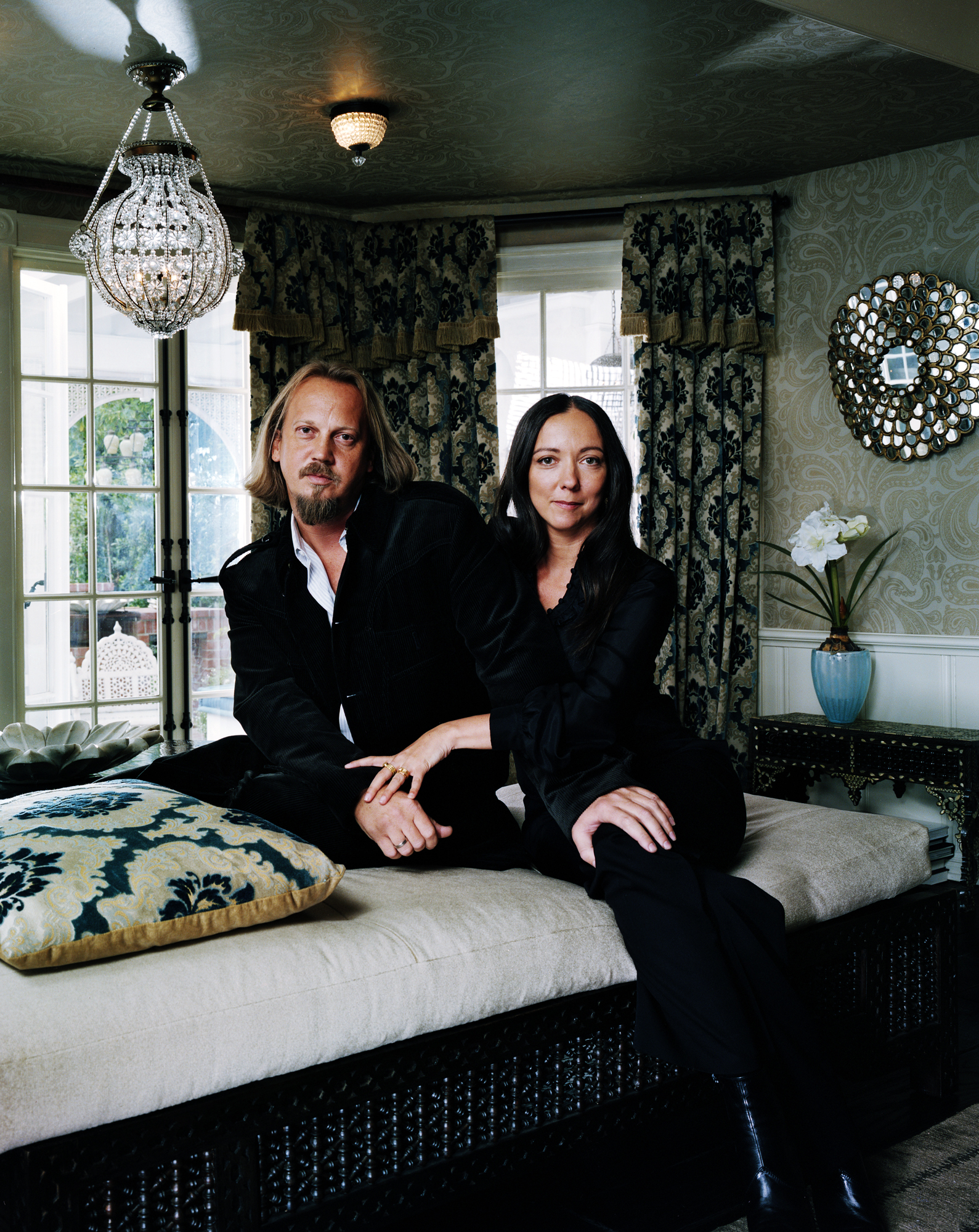 Stephen Alesch and Robin Standefer of Roman and Williams at Kate Hudson's home - Beverly Hills, CA