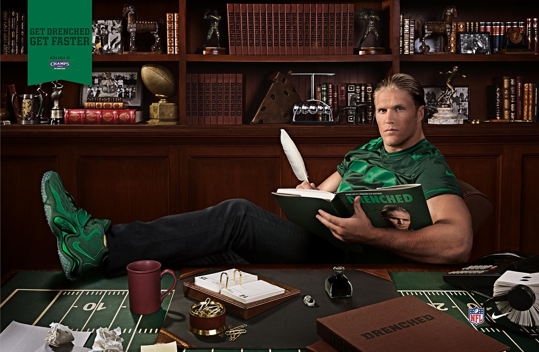 Clay Matthews for Champs Drenched - Los Angeles, CA