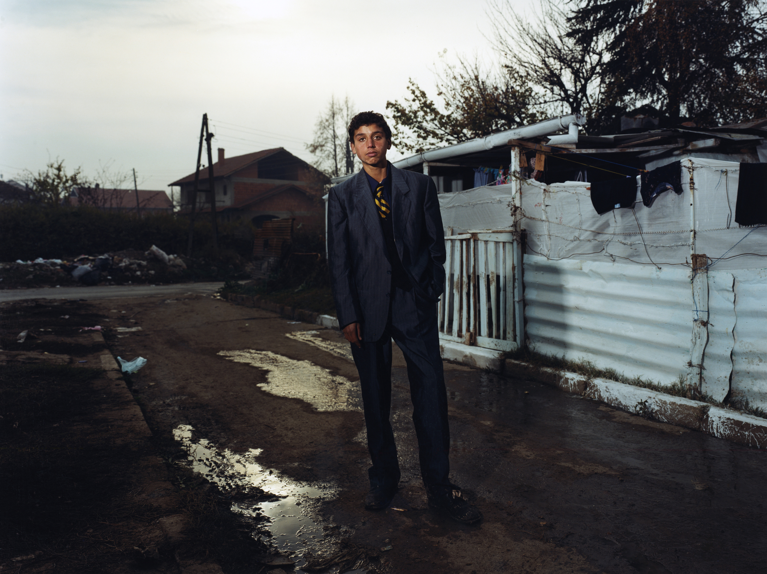 Elvis, Gypsie (Roma) -Shutka, Macedonia. Shutka, just outside of the Mecedonian capital Skopia is the only fully autonomous Roma-run town in Europe, with it's own news station, school system and municipal services. Romani serves as the official language.