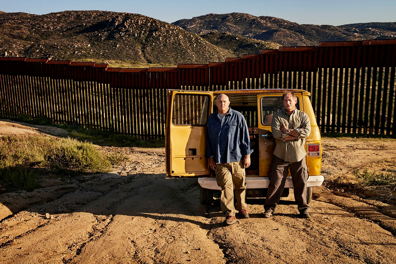 Elden Kidd and Tim Burraston on the US/Mexico Border - Tecate, CA from The Legend of Elden Kidd, America's Most Dedicated, Most Creative People Smuggler