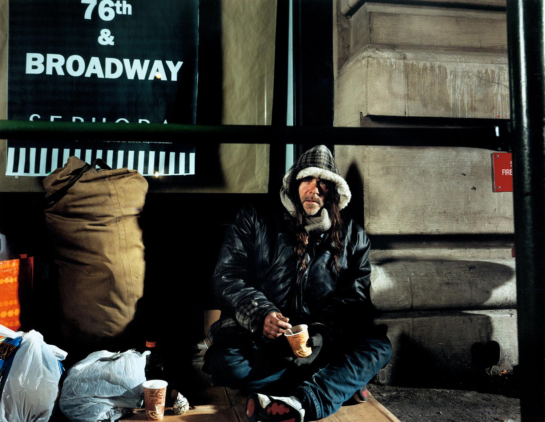 Connie - homeless man - New York City