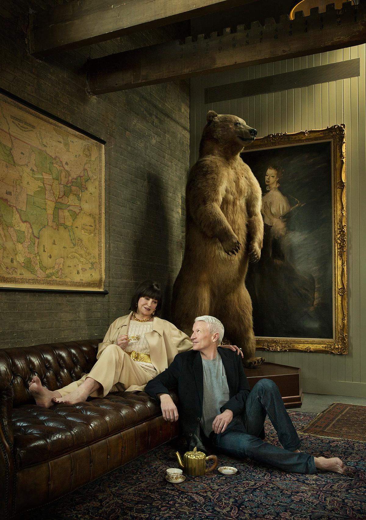 Anderson Cooper with mother Gloria Vanderbilt - New York City