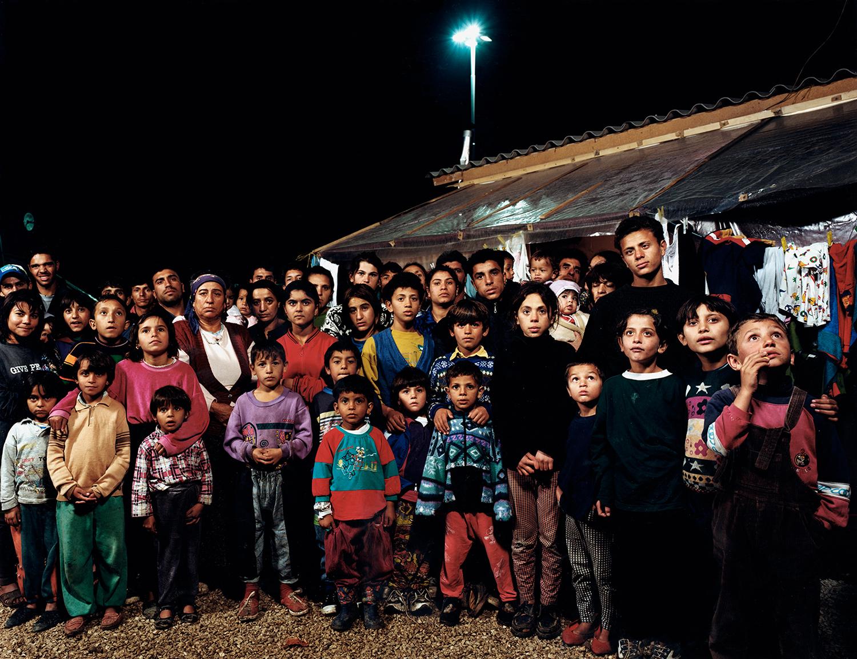 Large Gypsy Family - Refugee Camp - Shutka, Macedonia