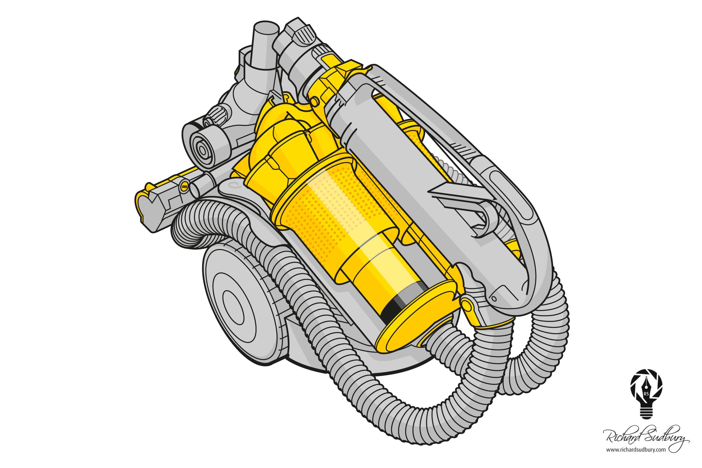Dyson Technical Illustration