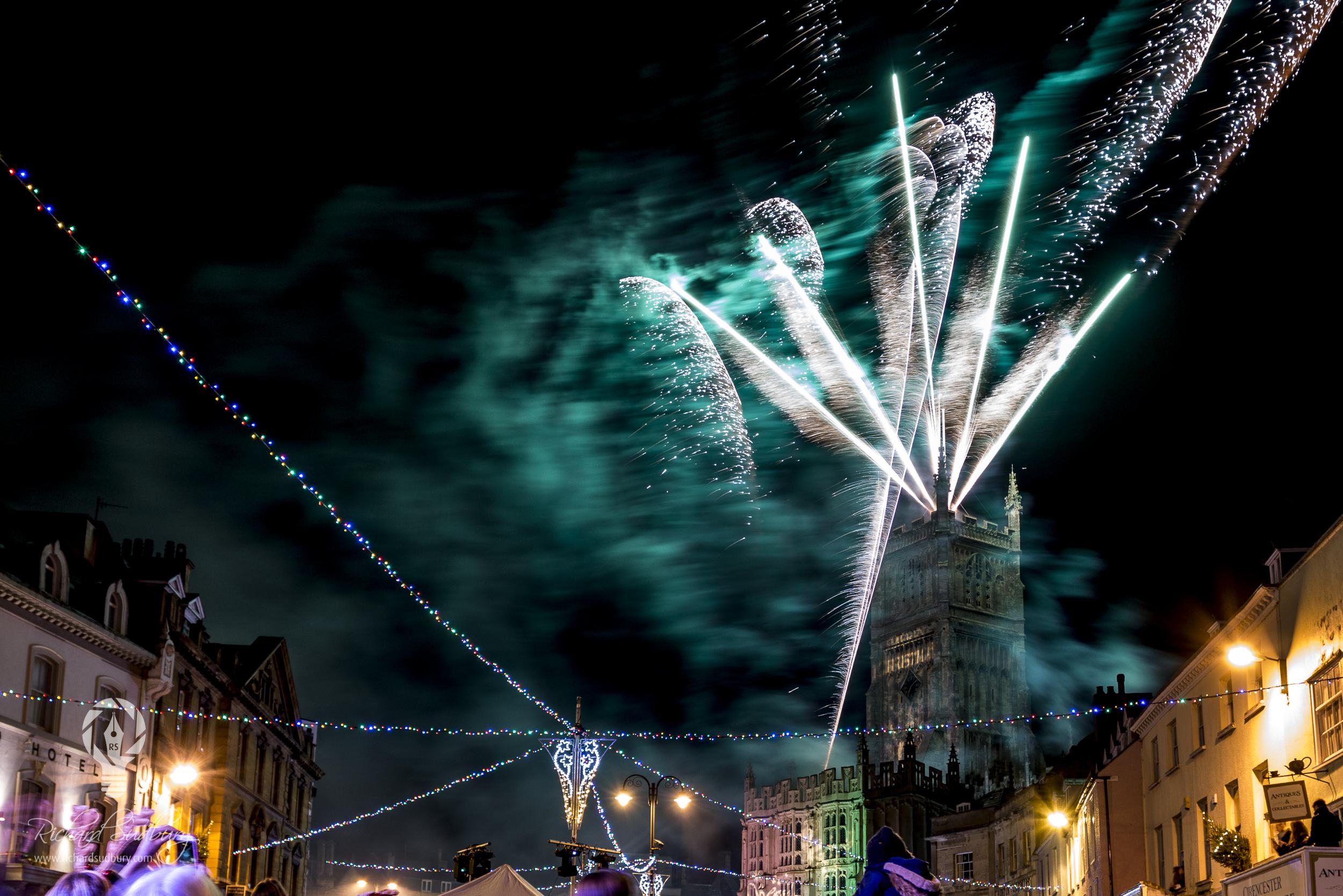 Fireworks over Cirencester