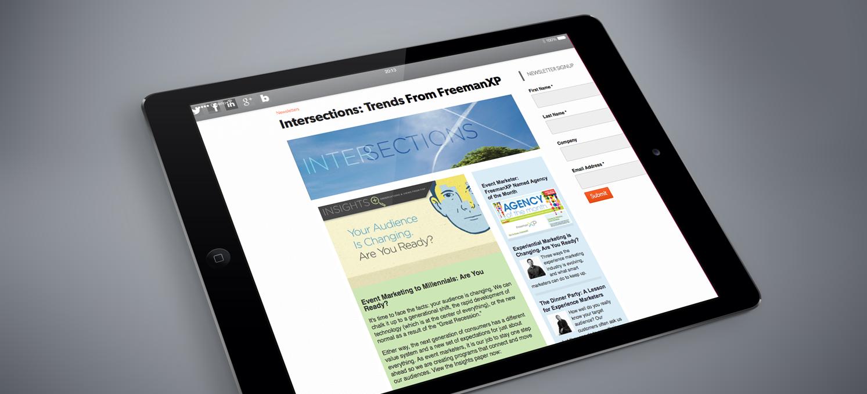 FreemanXP 'Intersections' e-newsletter