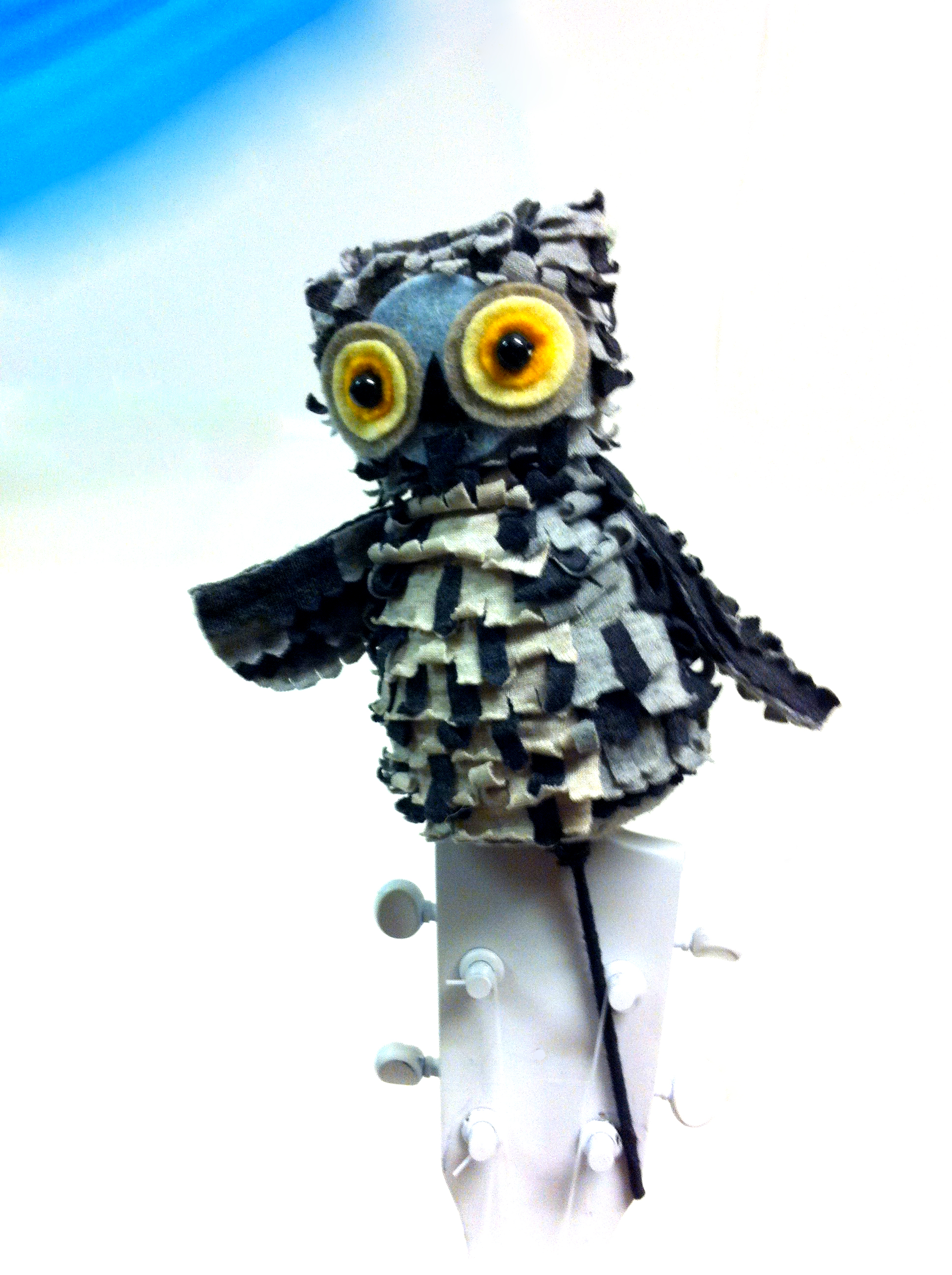 There are three different owl puppets used in the show, this is the smallest one.