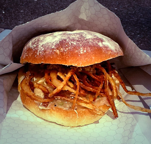 Brioche bun? Beer braised chicken gravy? Pure decadence.