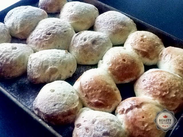 Sweet delicious fresh bread.