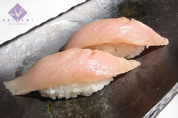 This delicious pic comes from the Origami Restaurant's menu. I found it googling albacore sushi. Sadly, it's in Minneapolis, not where I live.