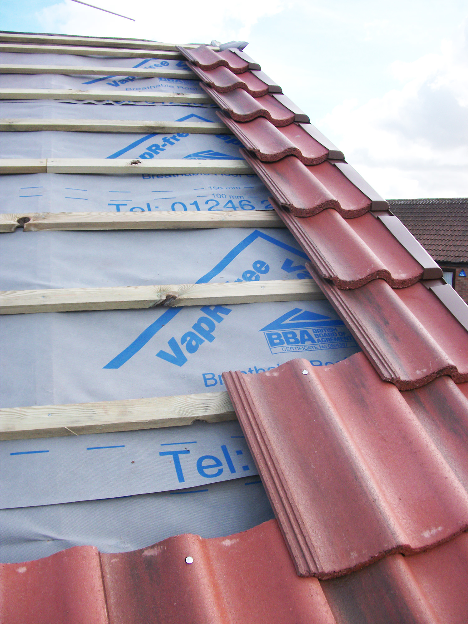 Re-roofing - new roof West Design and Build of Hedon01.JPG